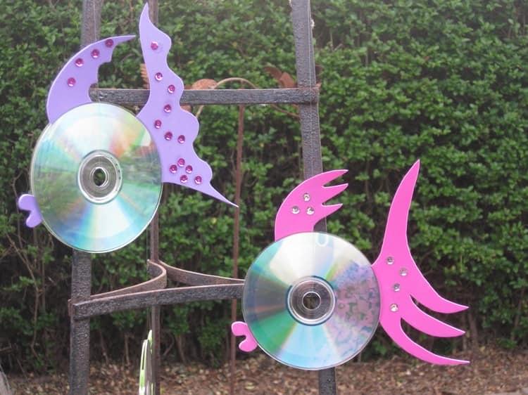 Поделки для дачи из CD дисков