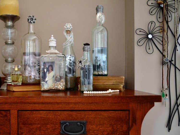 Ваши фото в бутылках - идея для декора дома