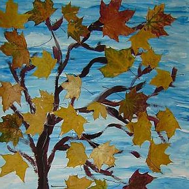 Поделки на осень деревья 340