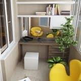 Рабочее место на балконе: обживаем свободное пространство (3.