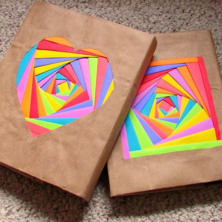Цветные обложки для книг своими руками