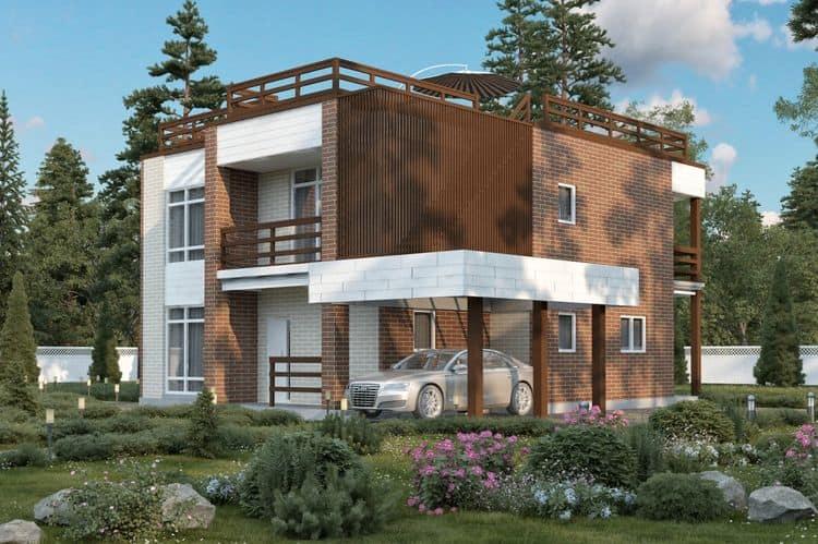 Двухэтажные каркасные дома БАКО