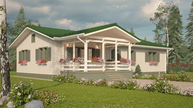 Одноэтажный каркасный дом БАКО