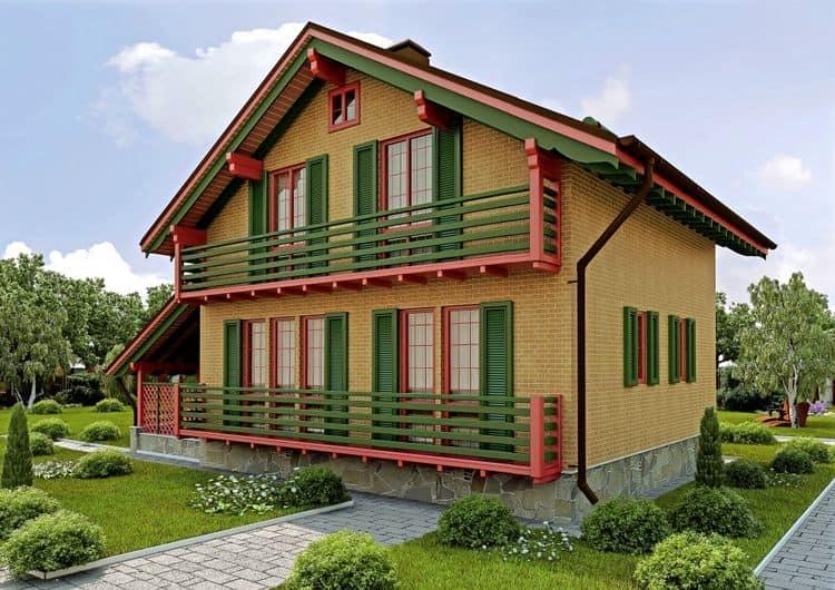 Каркасный дом БАКО на два этажа