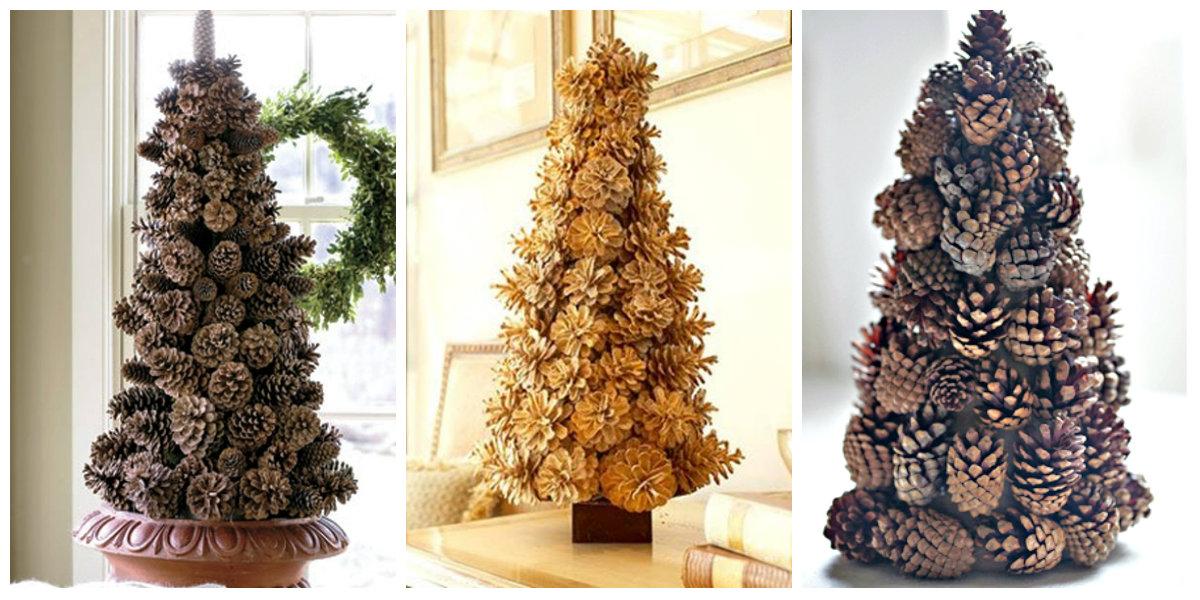 елки из шишек