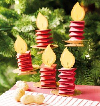 новогодние свечи из бумаги