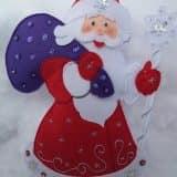 Фетровый дед мороз с подарками