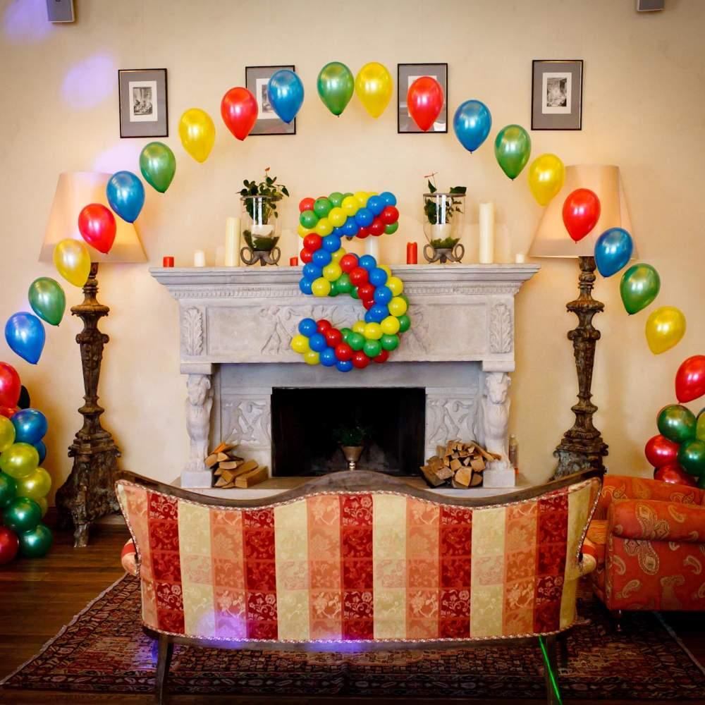 декорирование шарами к дню рождения