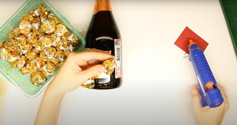Ананас из шампанского и кофет