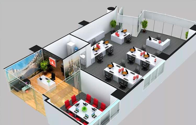 Планировка нового офиса