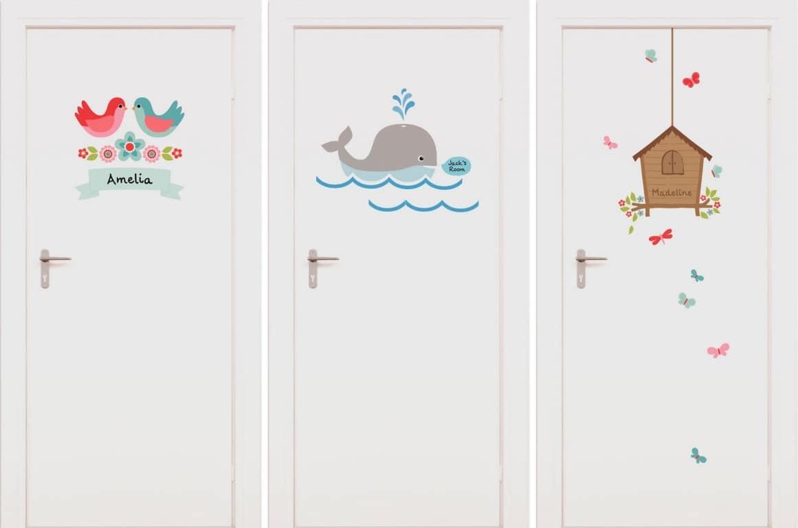 декор межкомнатных дверей наклейками