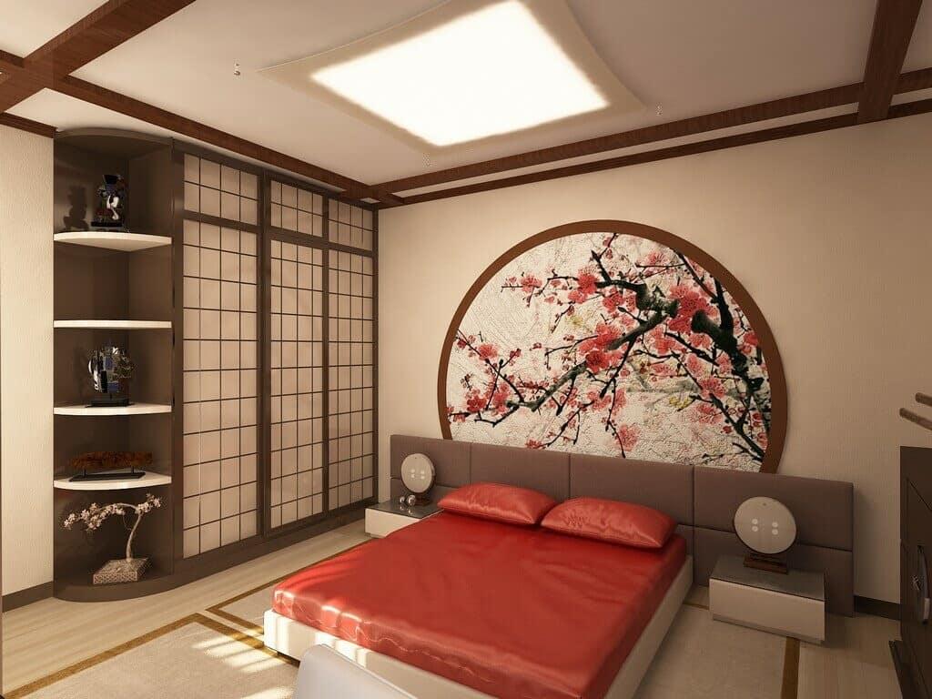 китайский стиль в интерьере спальни