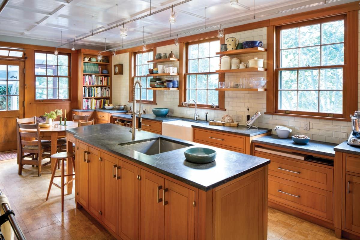 Кухня в стиле Крафтсман