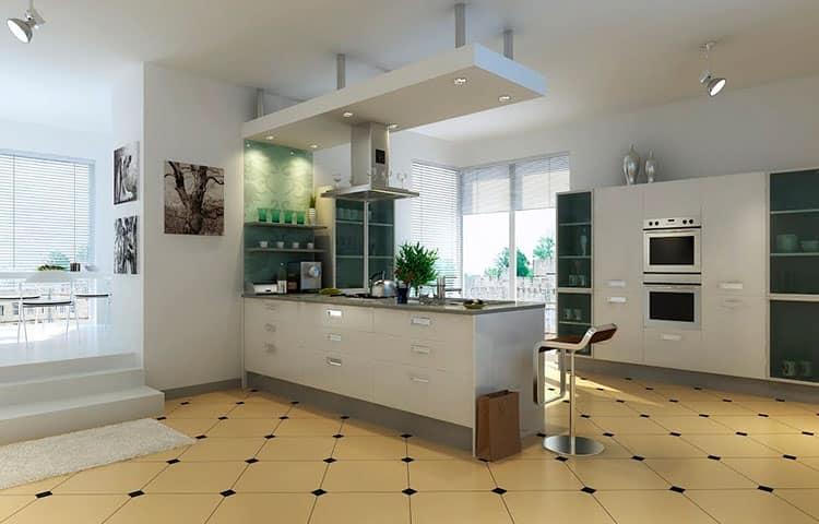 плитка для кухни и гостиной