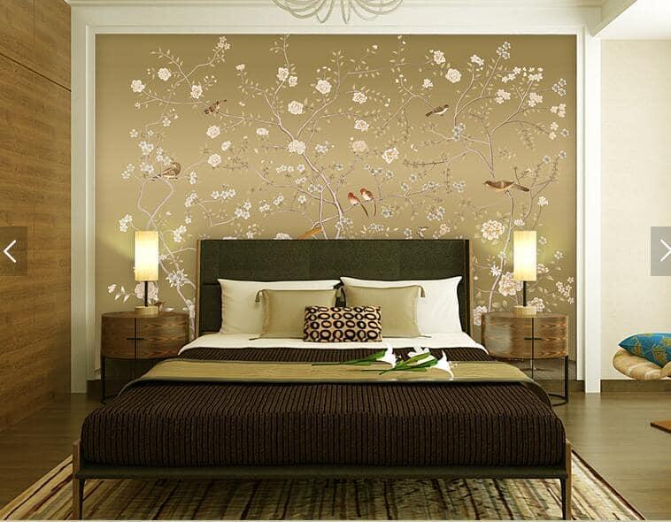 Спальня в золотистом цвете