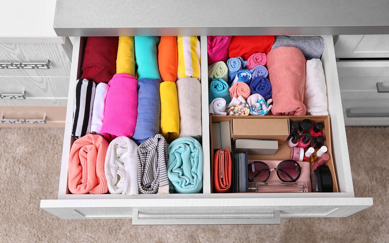 Разделители в шкафу