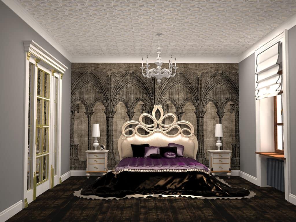 Спальня в стиле готика