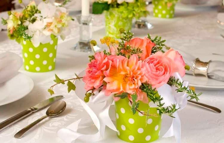 Праздничный декор из цветов