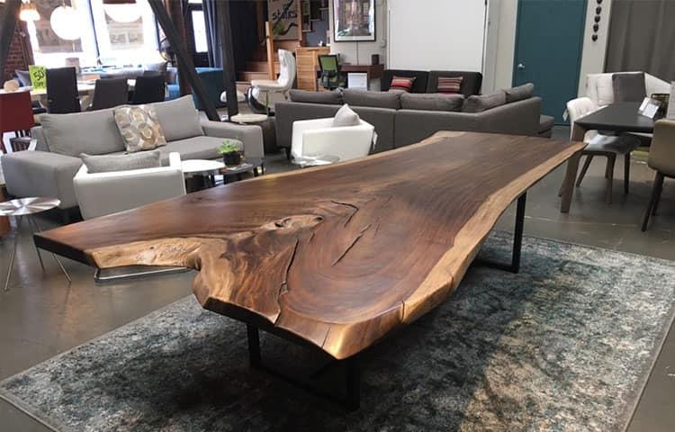 столы из слэбов в интерьере
