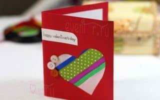 14 мастер классов: как сделать открытку на 14 февраля своими руками