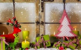 Как украсить окна на Новый год (55 фото)