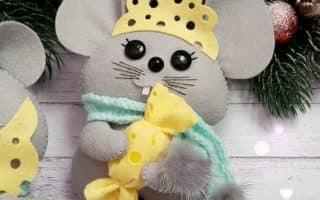 Мышка-Символ 2020 года: изготовление новогодних поделок своими руками