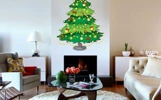 Плоские новогодние елки на стене: 7 поделок своими руками (46 фото)