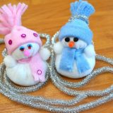 Мягкие игрушки снеговики