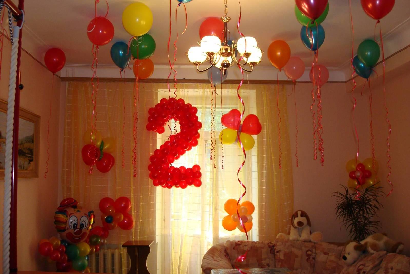 украшение шарами к дню рождения